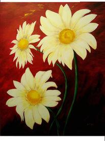 Weiß, Malerei, Rot, Blumen