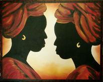 Afrika, Erdfarben, Kopf, Malerei