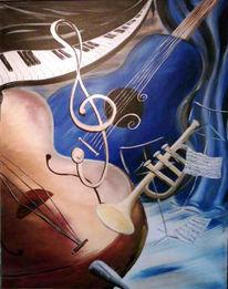 Musik, Malerei, Instrument