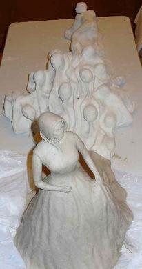 Gewalt, Abhängikeit, Keramik, Frau