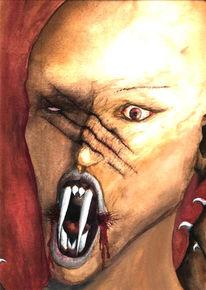 Angst, Figural, Gewalt, Malerei
