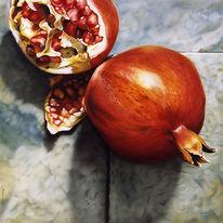 Analog, Realismus, Malerei, Granatapfel