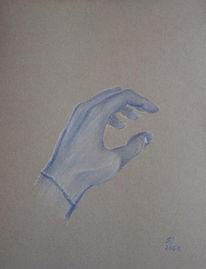 Zeichnung, Blau, Skizze, Hand