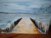 Abstrakt, Malerei, Strand