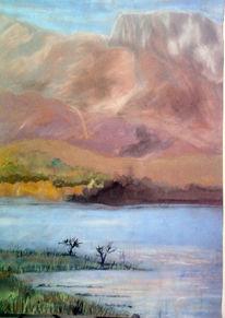 Himmel, Wasser, Landschaft, Malerei