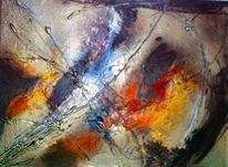 Verschmelzungen, Abstrakt, Zerfall, Malerei