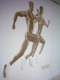 Malerei, Figural, Läufer