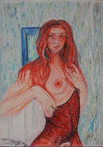 Pastellmalerei, Zeichnung, Kreide, Ölmalerei