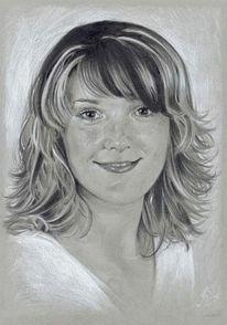 Grau, Portrait, Zeichnungen