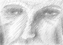 Gesicht, Zeichnung, Alt, Mann