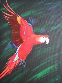 Papagei, Figural, Malerei, Tiere