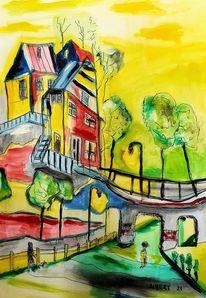 Landschaft, Malerei,