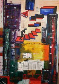 Farbenaufstieg, Oben, Aufstieg, Malerei