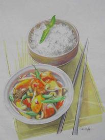 Chop, Gemüse, Zeichnung, Sui