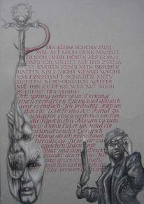 Schrift, Fantasie, Vampir, Geschichte