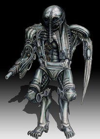 Science fiction, Cyborg, Roboter, Alien
