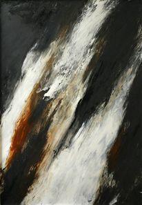 Schwarz, Braun, Abstrakt, Malerei
