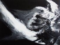 Tiere, Abstrakt, Schwarz weiß, Malerei