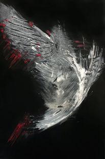 Abstrakt, Malerei, Weiß, Flügel