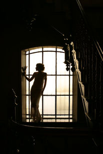 Fotografie, Fenster, Menschen, Villa