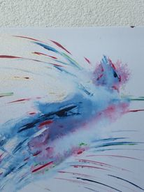 Tiere, Mystik, Phönix, Acrylmalerei