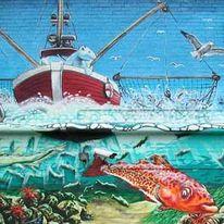 Aerosol, Graffiti, Graffitiauftragsarbeit, Lackfarbe