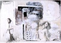 Weiß, Abstrakt, Malerei, Schwarz