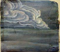 Landschaft, Katastrophe, Schlachtfeld, Wolken