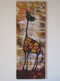 Giraffe, Abstrakt, Malerei