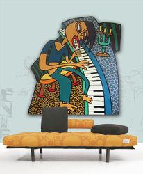 Wand, Malerei, Objekt, Figural