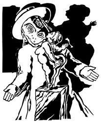 Illustration, Schwarz weiß, Charakter, Grafik