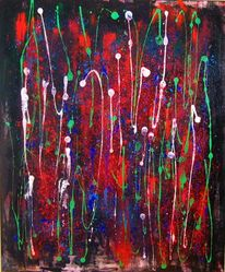 Modern, Rot schwarz, Grün, Abstrakt