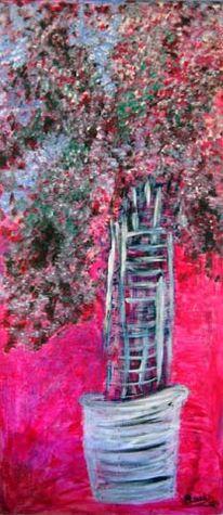 Modern, Malerei, Abstrakt, Baum