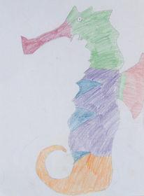 Portrait, Zeichnung, Zeichnungen, Seepferdchen