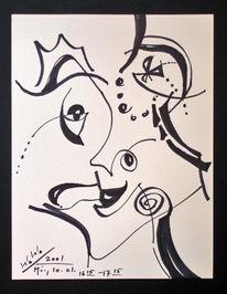 Abstrakt, Grafik, Portrait, Fantasie