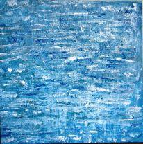Meer, Himmel, Acrylmalerei, Blau