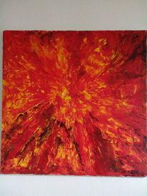 Explosion, Feuer, Rot, Malerei