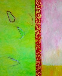 Karat, Malerei, Abstrakt, Blattgold