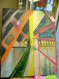 Malerei, Stadt, Licht, Architektur