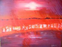Sonne, Malerei, Glut, Rot