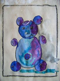 Bär, Malerei, Lila