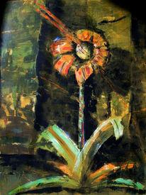Malerei, Blumen, Pflanzen, Kind