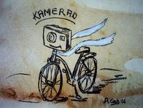 Kamera, Malerei, Fahrrad