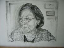 Malerei, Frau, Portrait