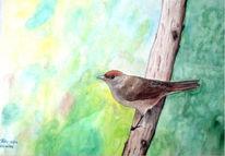 Malerei, Figural, Tiere, Vogel