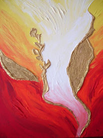 Abstrakt, Gold, Acrylmalerei, Malerei