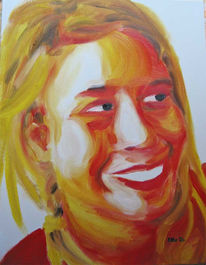 Expressionismus, Malerei, Frau, Selbstportrait