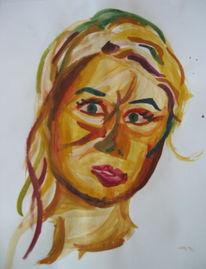 Selbstportrait, Malerei, Skizze, Frau