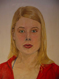 Frau, Portrait, Selbstportrait, Malerei