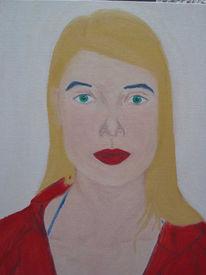 Malerei, Selbstportrait, Plakativ, Portrait